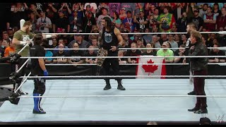 Download Video Roman Reigns is confronted by Y2J, AJ Styles, Kevin Owens and Sami Zayn - WWE Raw April 4 2016 MP3 3GP MP4