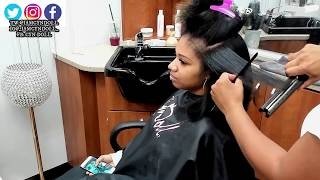 DETAILED Silk Press ON THICK HAIR(voice over)