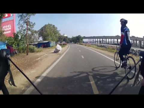 Cycling Through Santa Ana River Bike Trail Homeless Camps Orange County California