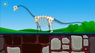 Dinosaur Games for Kids - Puzzle Game - Seek the Bones and Build your Dinosaur (Part 1) - Gameplay