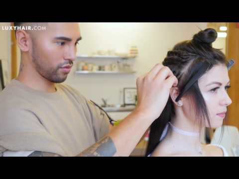 Kim Kardashian Inspired Sleek Straight Hair With Extensions