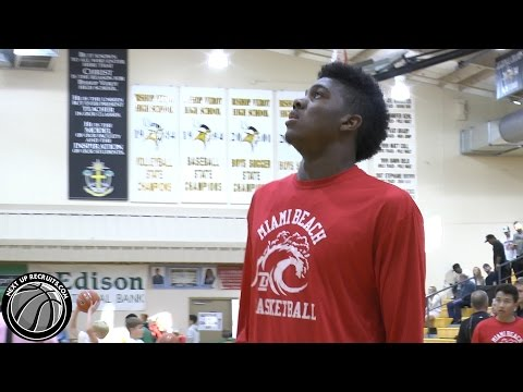 7 foot Sophomore Zach Brown opens game with TWO Dunks in 2014 City of Palms Classic
