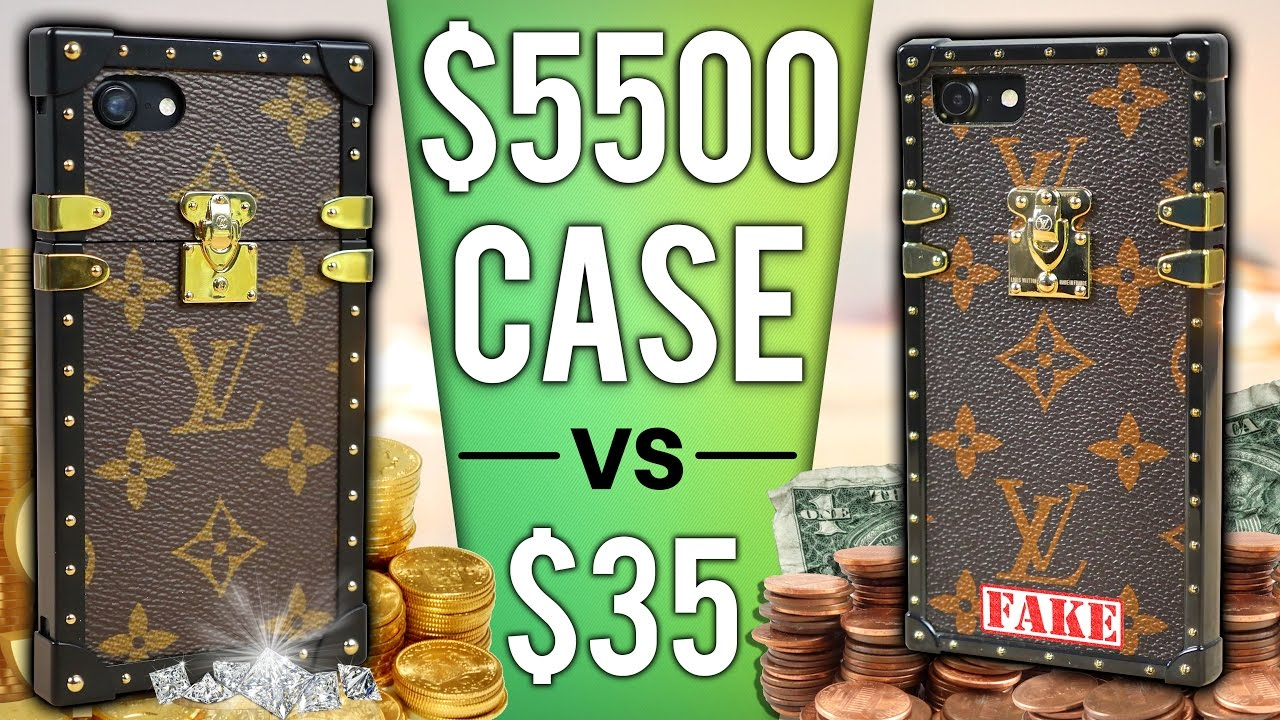 $35 IPhone Case Vs $5500 Case DROP Test! - YouTube