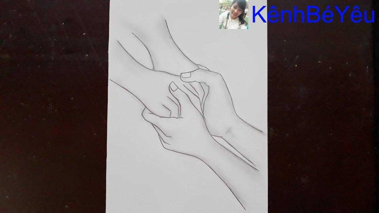 Vẽ tay cầm tay – Vẽ tay đẹp bằng bút chì;Hand-drawn hand-drawn – Beautiful hand-drawn pencil.