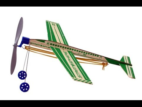 Estes Tuff Birds Stratosphere Rubber Band Powered Plane Build And
