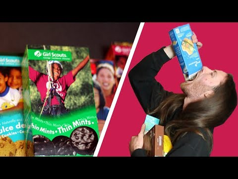 Irish People Try to Taste Test American Girl Scout Cookies