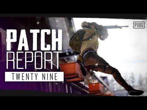 PUBG - Patch Report - PC Update #29