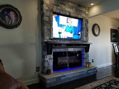 New Fireplace and T.V. in the Familyroom and how I built it.