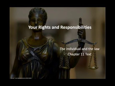 Rights & Responsibilities - Indiv. & the Law