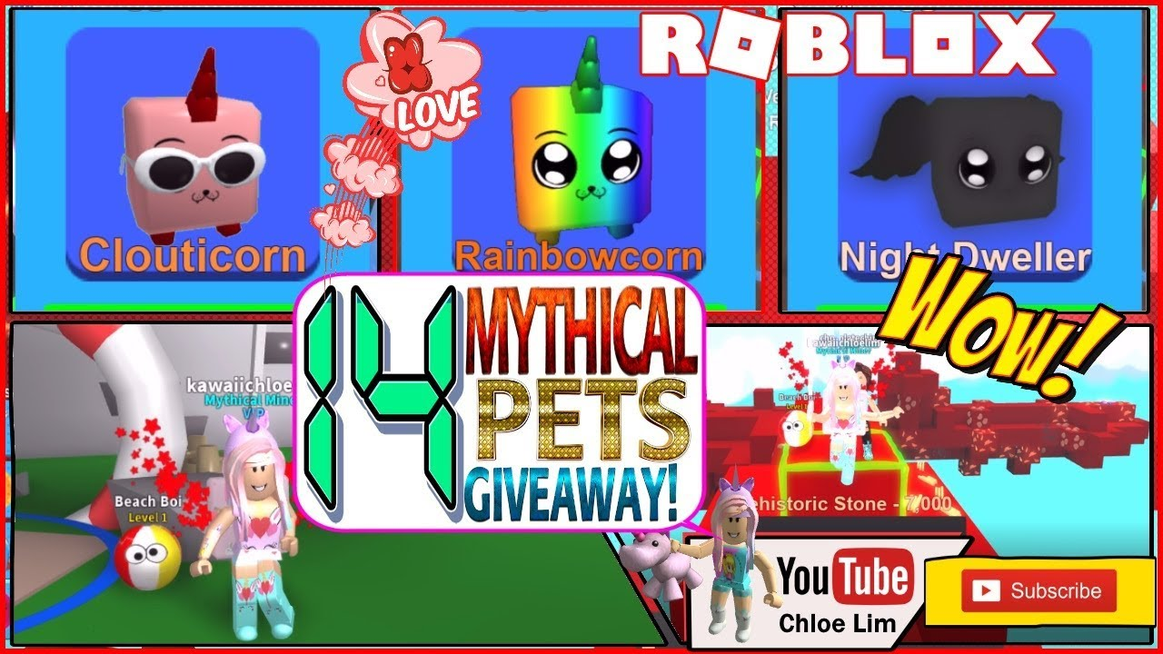 Roblox Gameplay Mining Simulator 14 Mythical Pets Giveaway Fun