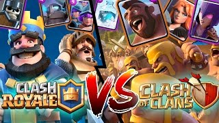 CARTAS de CLASH ROYALE Vs CARTAS de CLASH OF CLANS ! - Feat Molizane
