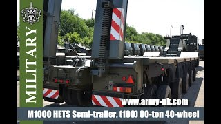 M1000 HETS Semi-trailer, (100) 80-ton 40-wheel heavy equipment transporter