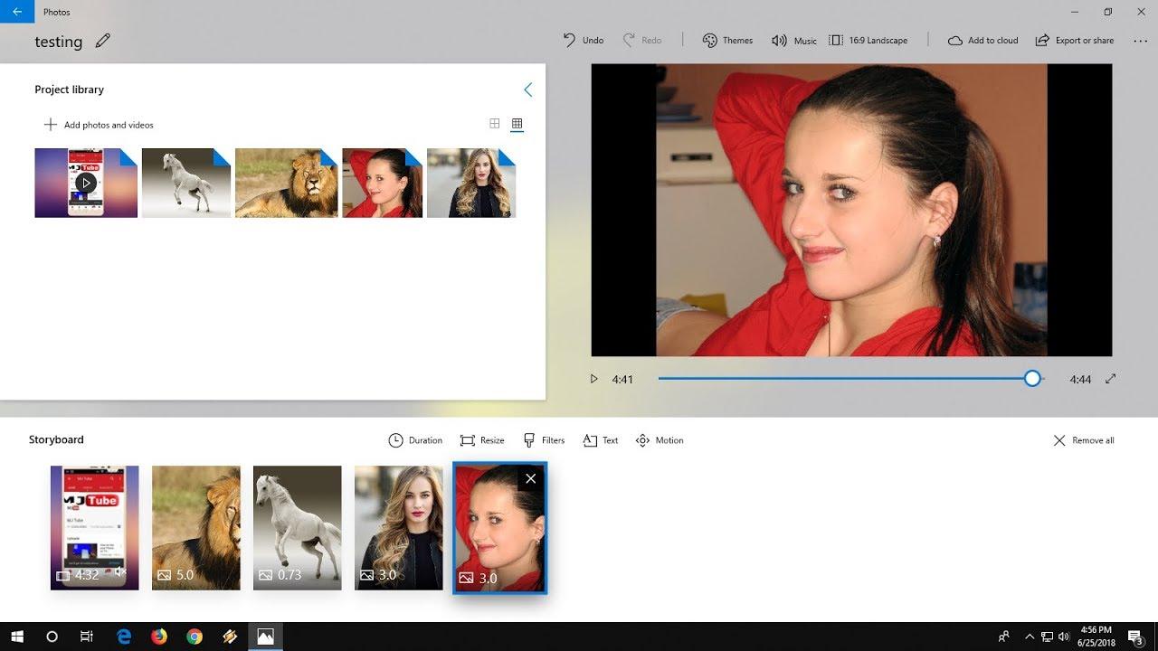 using windows 10 video editor