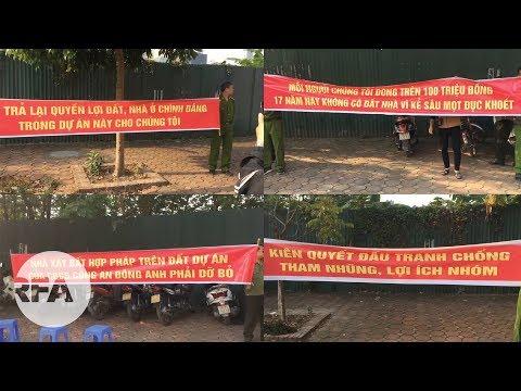 Hà Nội: Nhiều Người Mặc Sắc Phục Công An Căng Băng Rôn đòi đất, đòi Nhà