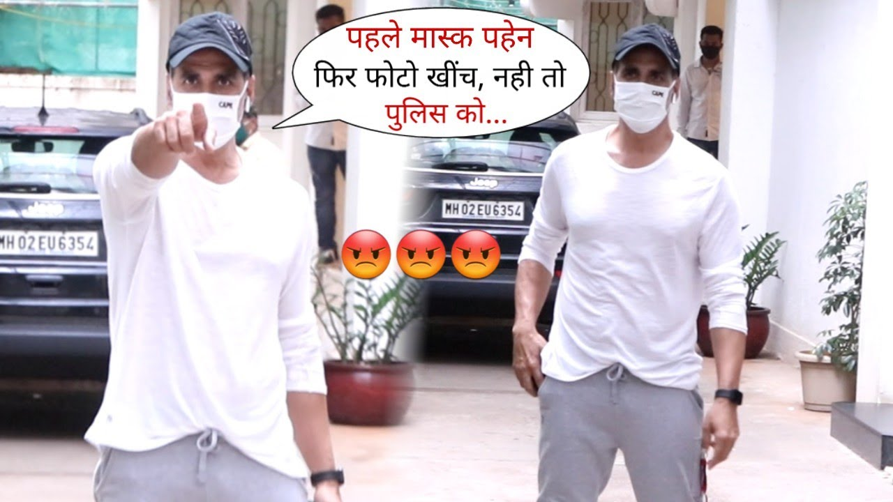Akshay Kumar Gets Angry on Photographer for Not Wearing Mask in Public Place | Seen in juhu