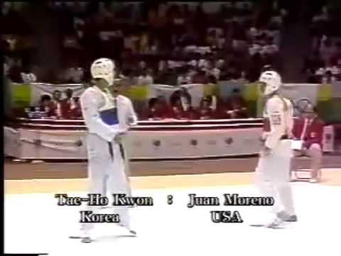 Master Tae Ho Kwon 1988 Seoul Olympic Taekwondo Match (50 kg)