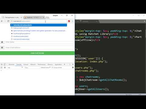 Chat Application In PHP & MySQL: Implement User Left Chatroom Part7