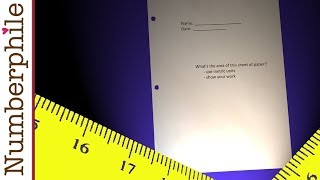 Secrets to measuring a piece of paper - Numberphile