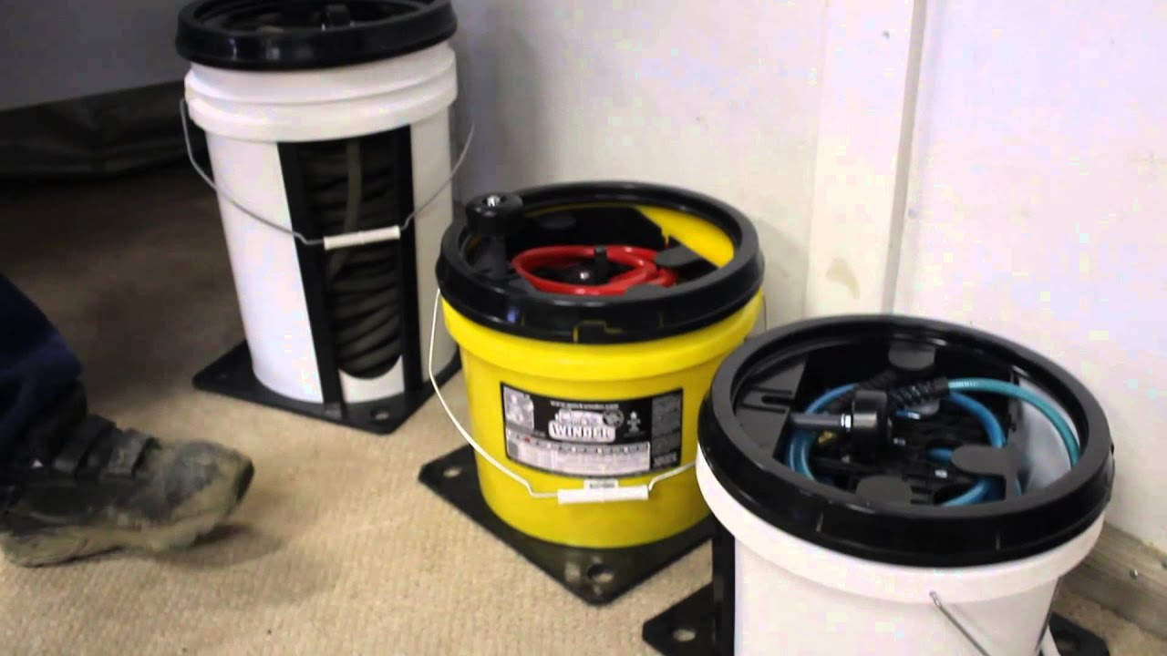 QUICKWINDER Air Hose Reels   Keep Air Hose Tangle Free   YouTube
