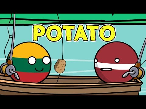 Latvia and Lithuania fishing trip - Countryballs
