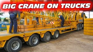 BIG CRAWLER CRANE PART 2  ♦ LOADING HEAVY EQUIPMENT ON TRUCKS AFTER JOB
