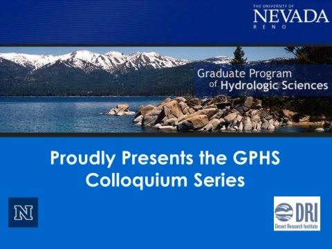 Dr. David Tarboton, UT State Univ: Presentation at Univ of NV Reno, 8/28/15