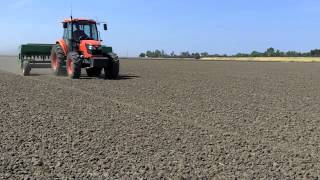Planting California foundation rice seed
