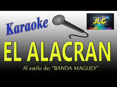 EL ALACRAN TUMBANDO CAÑA -Karaoke- Arreglo por JLG