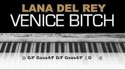 Lana Del Rey - Venice Bitch Karaoke (Shorter) Instrumental Chords Acoustic Piano Cover Lyrics