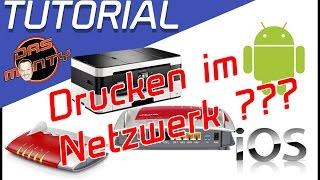 Drucken im Netzwerk - Tutorial - Einrichten Windows Android IOS - WLAN - USB - Das Monty Deutsch