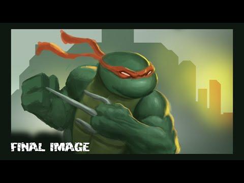 Teenage Mutant Ninja Turtles - Digital Sketch - Draw Fantasy Art