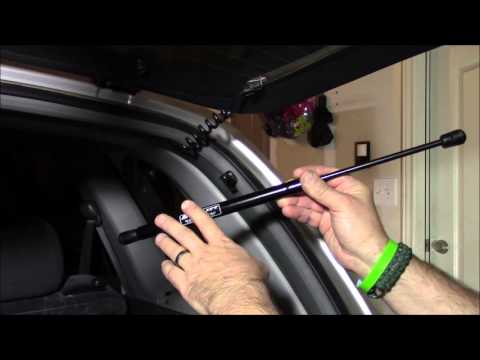 Two New Back GLASS WINDOW on Rear Hatch Liftgate Supports Shock Strut Arm Rod