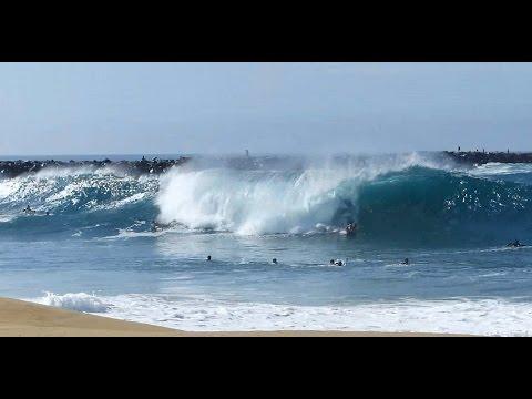 Newport Beach, CA, Wedge Surf 5ft - 8ft, 7/6/2014 - (1080p@60) Part 4