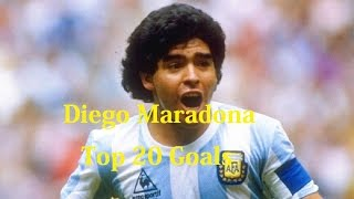 Diego Maradona Top 20 Impossible Goals Ever - Diego Maradona Top 20 Control Goals Ever