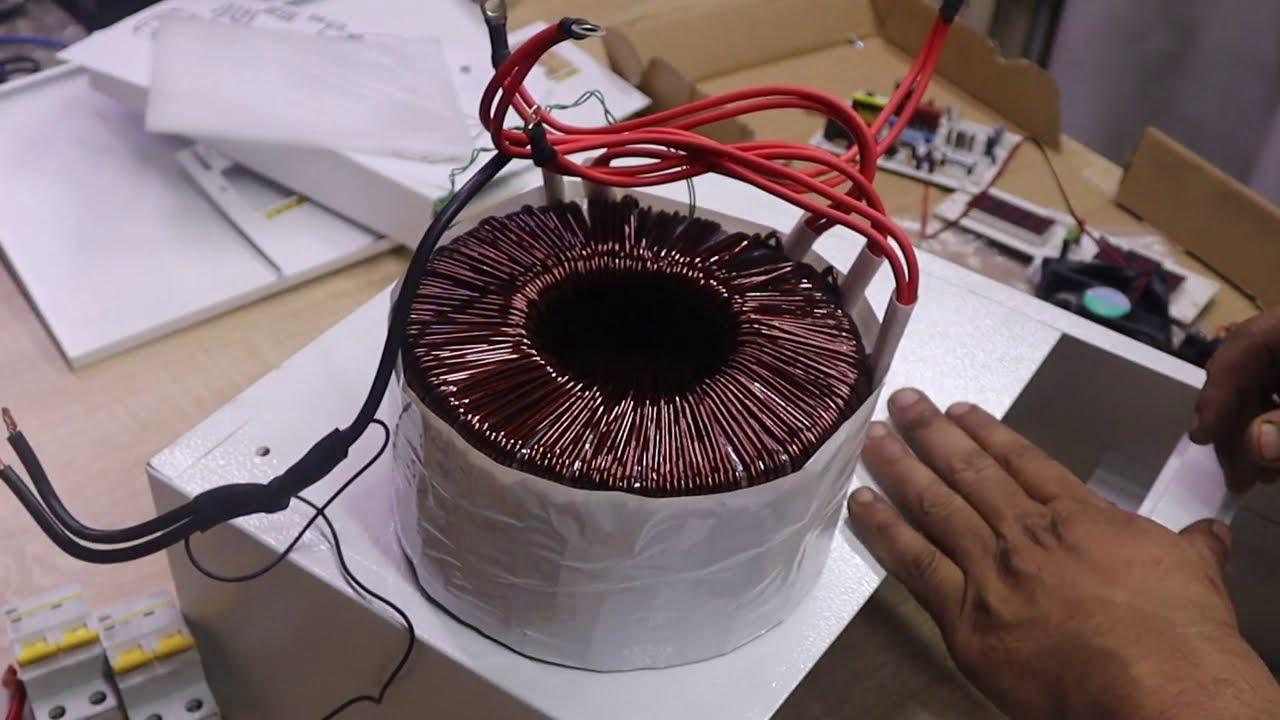 وأخيراً نجحت في صناعة جهاز تعديل الكهرباء في كامل البيت !!