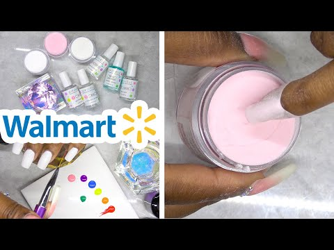 DIY Testing Dip Powder Nail Kit From Walmart - DipWell Nails
