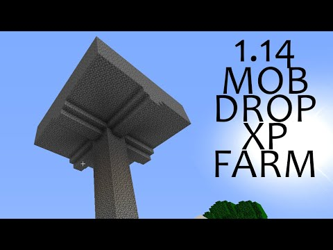 QUICK AND EASY MOB DROP XP FARM FOR MINECRAFT 1.14+ SURVIVAL - Minecraft #23