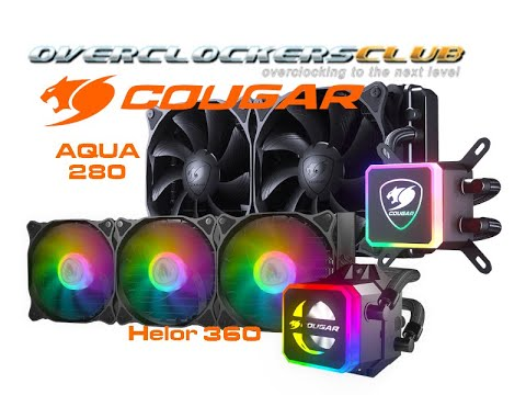 OCC Review Of The Aqua 280 And Helor 360 All-In-One CPU Coolers From Cougar Gaming.