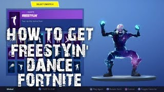 HOW TO GET FREESTYIN' DANCE FORTNITE BATTLE ROYALE TWITCH PRIME