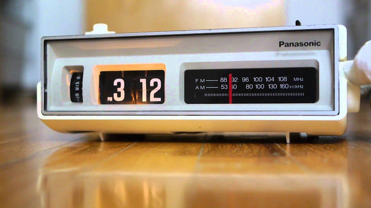 Panasonic flip clock vintage alarm clock radio Eames RC 6002 6005