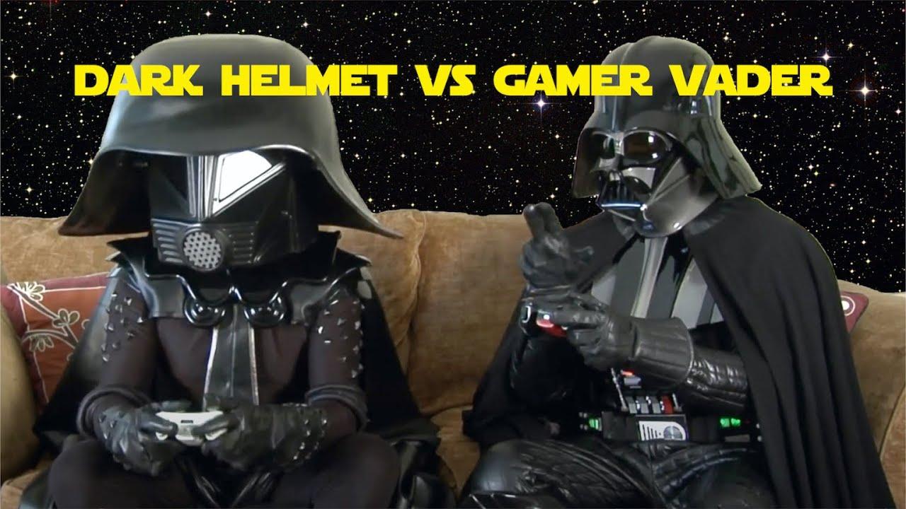 Episode V: The Konami Code Strikes Back - Gamer Vader and Dark Helmet battle