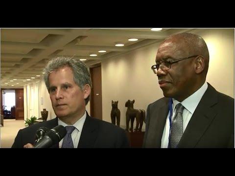 IMF David Lipton meets with DRC Finance Minister Henri Yav Mulang