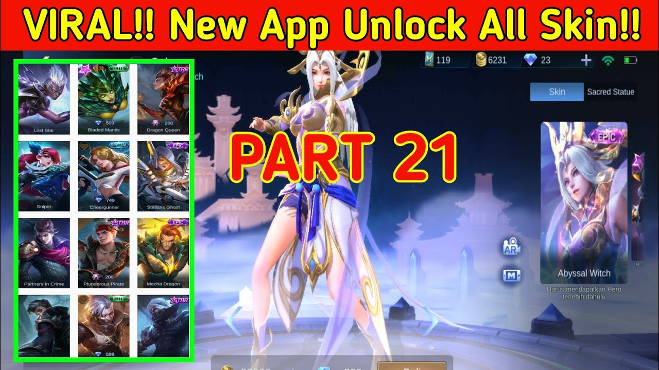 Viral!! New Update Part 21 Apk NGULIK ML / Apk Injector Mobile Legends