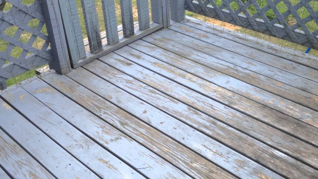 Before deck needs a paint job bad see after video for results before deck needs a paint job bad see after video for results with behr deckover baanklon Images