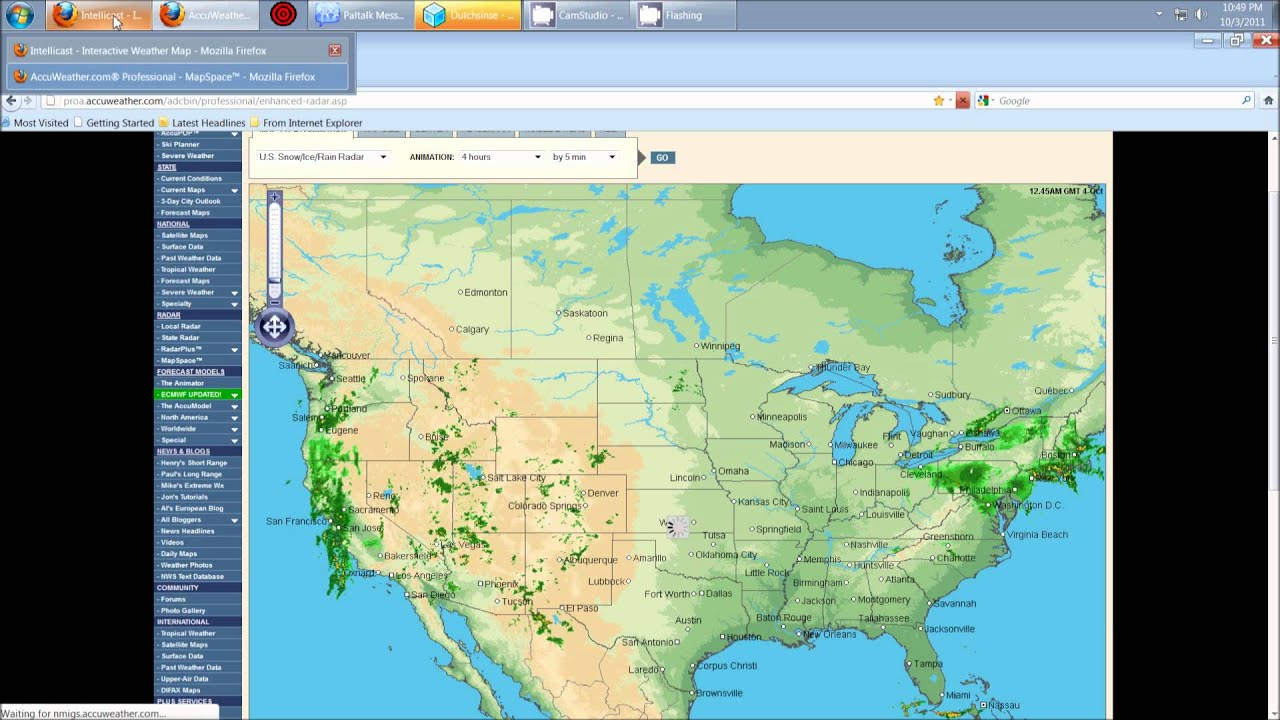 Accuweather Severe Weather Map.10 3 2011 Ghost Storms Scalar Squares Phasing And Haarp Rings