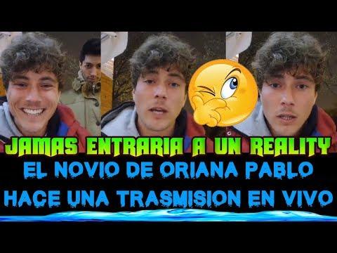 """NOVIO DE ORIANA MARZOLI """"PABLITO"""" HACE UNA TRANSMISION EN VIVO Y HABLA DE ELLA"""