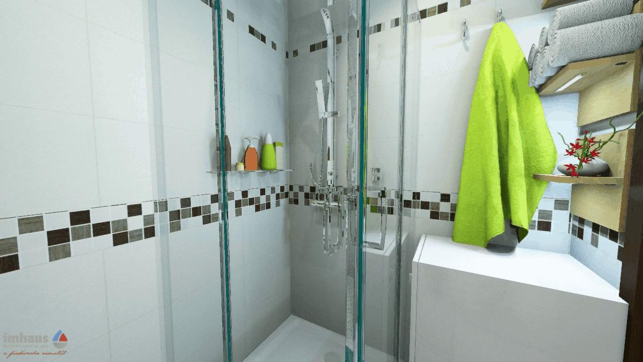 Téglalap alakú fürdőszoba zuhanykabinnal 0 4 négyzetméter köz ...
