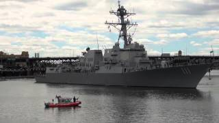 Foss Maritime Tugs Assist The USS Spruance (DDG-111) Out Of Portland: 6-9-14