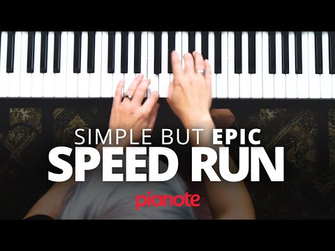 Simple But Epic Piano Speed Run