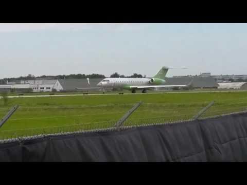 Global Express Bombardier YTZ Test Flight Takeoff Downsview